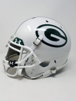 """Aaron Rodgers Signed Packers LE Custom Hydro Dipped White Full-Size Authentic On-Field Helmet Inscribed """"XLV Champs"""" (Steiner COA) at PristineAuction.com"""