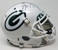 Aaron Rodgers Signed Packers LE Custom Hydro Dipped White Full-Size Authentic On-Field Helmet (Steiner COA) at PristineAuction.com