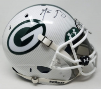 Aaron Rodgers Signed Packers LE Custom Hydro Dipped White Full-Size Authentic On-Field Helmet (Steiner COA)