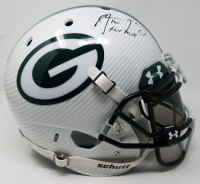 "Aaron Rodgers Signed Packers LE Custom Hydro Dipped White Full-Size Authentic On-Field Helmet Inscribed ""XLV MVP"" (Steiner COA) at PristineAuction.com"