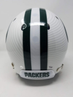 """Aaron Rodgers Signed Packers LE Custom Hydro Dipped White Full-Size Authentic On-Field Helmet Inscribed """"XLV MVP"""" (Steiner COA) at PristineAuction.com"""