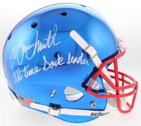 "Bruce Smith Signed Bills Custom Blue Chrome Full-Size Helmet Inscribed ""All-Time Sack Leader"" (TriStar Hologram)"