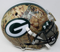 Aaron Rodgers Signed Packers LE Custom Hydro Dipped Camouflage Full-Size Authentic On-Field Helmet (Steiner COA)