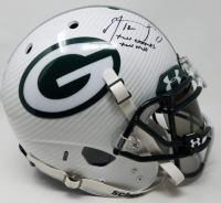 "Aaron Rodgers Signed Packers LE Custom Hydro Dipped White Full-Size Authentic On-Field Helmet Inscribed ""XLV MVP"" & ""XLV Champs"" (Steiner COA) at PristineAuction.com"