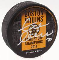 Zdeno Chara Signed Bruins 2011 Stanley Cup Champions Logo Hockey Puck (Chara COA)