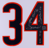 "Walter Payton Signed Bears 35x43 Custom Framed Jersey Inscribed ""Sweetness"", ""75-87"", ""Super Bowl XX"" & ""16,726"" (Payton Hologram) at PristineAuction.com"