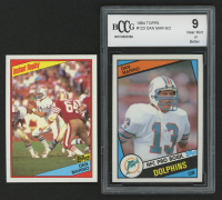 Lot of (2) Dan Marino Football Cards with 1984 Topps #123 Dan Marino RC, 1984 Topps #124 Dan Marino (BCCG 9)