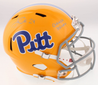 """James Conner Signed Pittsburgh Panthers Full-Size Speed Helmet Inscribed """"Conner Strong"""" (TSE COA)"""