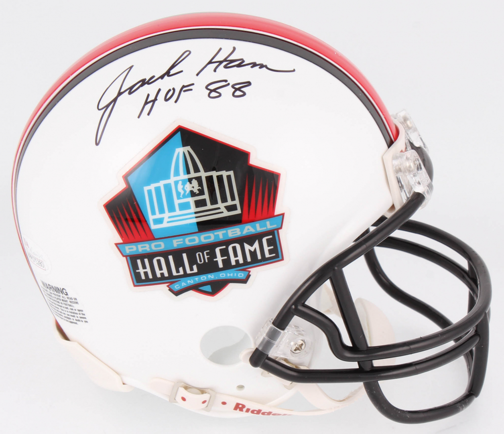 0e6ba8e57a4 Jack Ham Signed Pro Football Hall of Fame Mini Helmet Inscribed