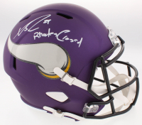 "Xavier Rhodes Signed Vikings Full-Size Speed Helmet Inscribed ""Rhodes Closed"" (TSE COA)"