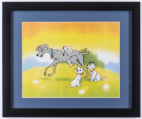 "Walt Disney ""101 Dalmations"" 16x19 Custom Framed Serigraph Cel"