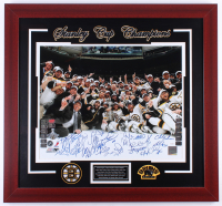 "2011 Bruins ""Stanley Cup Champions"" 27.5x29.5 Custom Framed Photo Display Team-Signed by (22) with Zdeno Chara, Mark Recchi, Tyler Seguin, Gregory Campbell (JSA Hologram & (13) Player Holograms)"