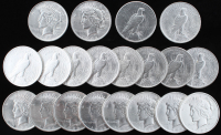 Lot of (20) 1922-1925 Uncirculated Peace Silver Dollars