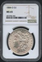1884-O $1 Morgan Silver Dollar (NGC MS 65)