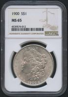 1900 $1 Morgan Silver Dollar (NGC MS 65)
