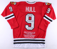 "Bobby Hull Signed Blackhawks Career Highlight Stat Jersey Inscribed ""The Golden Jet"" & ""HOF 1983"" (JSA COA)"
