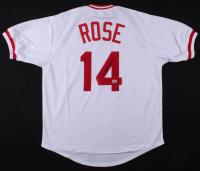 "Pete Rose Signed Cincinnati Reds ""Hit King"" Jersey (Fiterman Sports Hologram)"