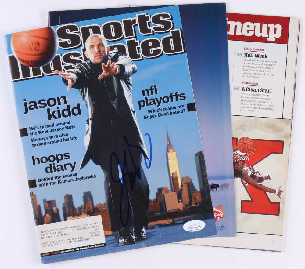985dc86dc2f Jason Kidd Signed Nets 2003 Sports Illustrated Magazine (JSA COA) at  PristineAuction.com