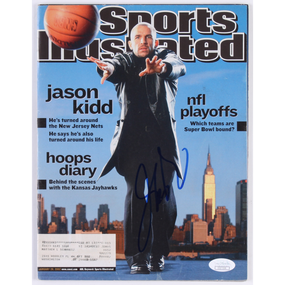 d7f21d7bdc4 Jason Kidd Signed Nets 2003 Sports Illustrated Magazine (JSA COA)