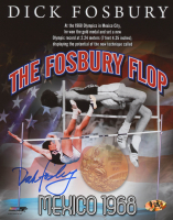 "Dick Fosbury Signed 1968 Mexico Summer Olympics ""The Fosbury Flop"" 8x10 Photo (MAB Hologram)"