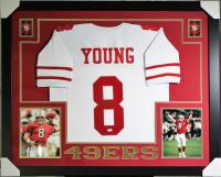 Steve Young Signed 49ers 35x43 Custom Framed Jersey (JSA COA)