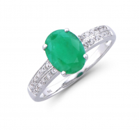 2.77 Ct Certified Emerald & Diamond 14k Gold Ring