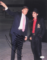 Donald Trump Signed 11x14 Photo with Michael Jackson (JSA LOA)