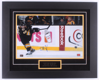 David Krejci Signed Bruins 20.5x25.5 Custom Framed Photo Display (Krejci Hologram)