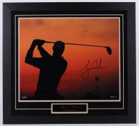 Tiger Woods Signed 29x31.5 Custom Framed Photo Display (UDA Hologram)