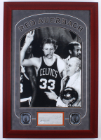 Red Auerbach Signed Celtics 23.5x33.5 Custom Framed Personal Check Display with 16x20 Photo (JSA COA) at PristineAuction.com