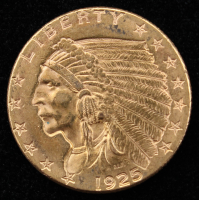 1925-D $2.5 Indian Head Quarter Eagle Gold Coin