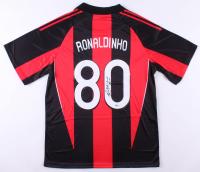"Ronaldinho Signed A.C. Milan Adidas Jersey Inscribed ""Rio"" (Beckett COA)"