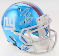 Saquon Barkley Signed Giants Chrome Mini Helmet (Beckett COA)
