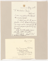 Gerald Ford Signed 11x14 Presidential Letter Display (JSA ALOA)