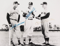 """Ted Williams, Stan Musial & Mickey Mantle Signed """"Baseball Legends"""" 11x14 Photo (JSA ALOA) at PristineAuction.com"""