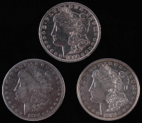 Lot of (3) Morgan Silver Dollars with 1884. 1896, and 1921-D