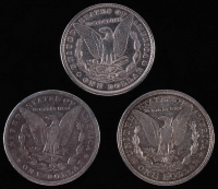 Lot of (3) Morgan Silver Dollars with 1884. 1896, and 1921-D at PristineAuction.com