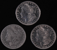 Lot of (3) Morgan Silver Dollars with 1889S, 1890-S, and 1921