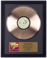 "The Doors Custom Framed 15.75x19.5 Gold Plated ""L.A. Woman"" Record Album Award Display"