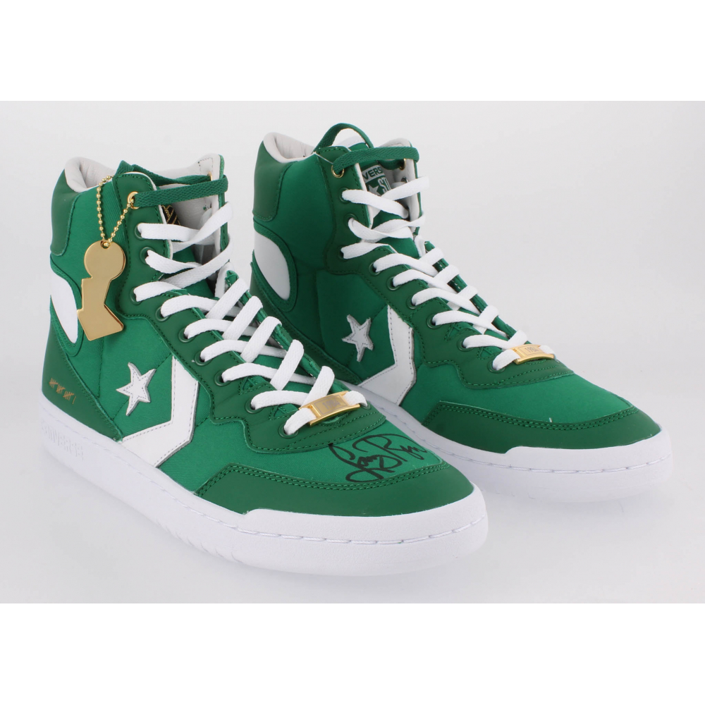 100% authentic exquisite style fashion Larry Bird Signed Pair of (2) Converse Fastbreak HI Basketball ...