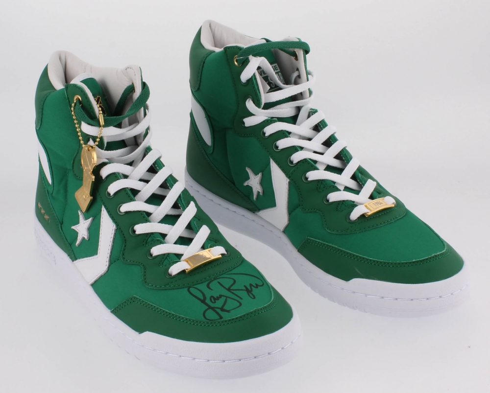6333eeec684c Larry Bird Signed Pair of (2) Converse Fastbreak HI Basketball Shoes  (Beckett COA   Bird Hologram)