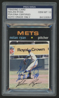 "Nolan Ryan Signed 1971 Topps #513 Inscribed ""H.O.F. '99"" (PSA Encapsulated)"