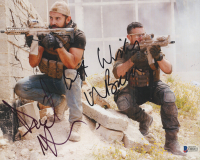 "Daniel MacPherson & Warren Brown Signed ""Strike Back"" 8x10 Photo Inscribed ""Best Wishes"" (Beckett COA)"