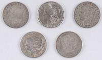 Lot of (5) Morgan Silver Dollars