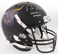 "Adam Thielen Signed Minnesota State Mavericks Custom Matte Black Full-Size Helmet Inscribed ""Undrafted to Unstoppable"" (TSE COA)"