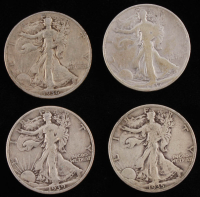 Lot of (4) Walking Liberty Half-Dollars with 1935-S, 1936, 1937, & 1939 at PristineAuction.com