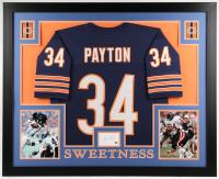 Walter Payton Signed Bears 35x43 Custom Framed Cut Display (Payton COA)