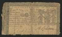 1767 $2 Two Dollars Maryland Colonial Currency Note