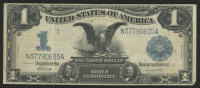 """1899 $1 One Dollar """"Black Eagle"""" U.S. Silver Certificate Large Size Bank Note"""