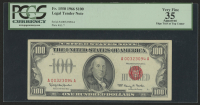 1966 $100 One Hundred Dollars U.S. Legal Tender Note (PCGS 35, Apparent)